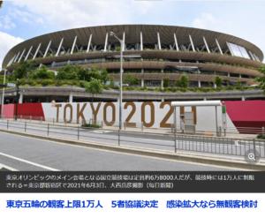 東京五輪 客入れ開催 制限付きで決定へ