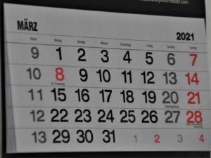 カレンダー2021年3月