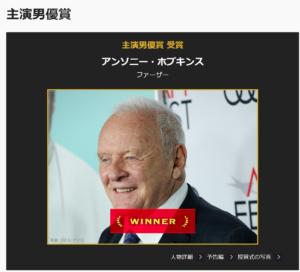 アカデミー賞 主演男優賞 アンソニー・ホプキンスさん