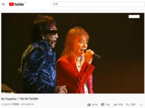 TMネットワークのBE together
