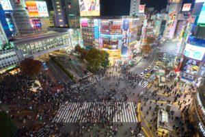 渋谷のスクランブル交差点です