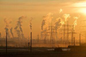 大気汚染です