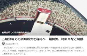 東京五輪 会場での酒類販売容認