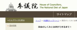 参議院ホームページです