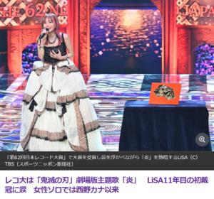 LiSA レコード大賞