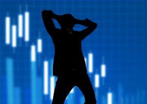 株価暴落です