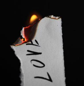 紙が燃える ビブルカード
