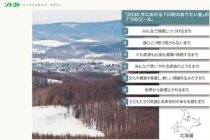 北海道下川町SDGsのページです。