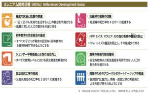 MDGs(ミレニアム開発目標)